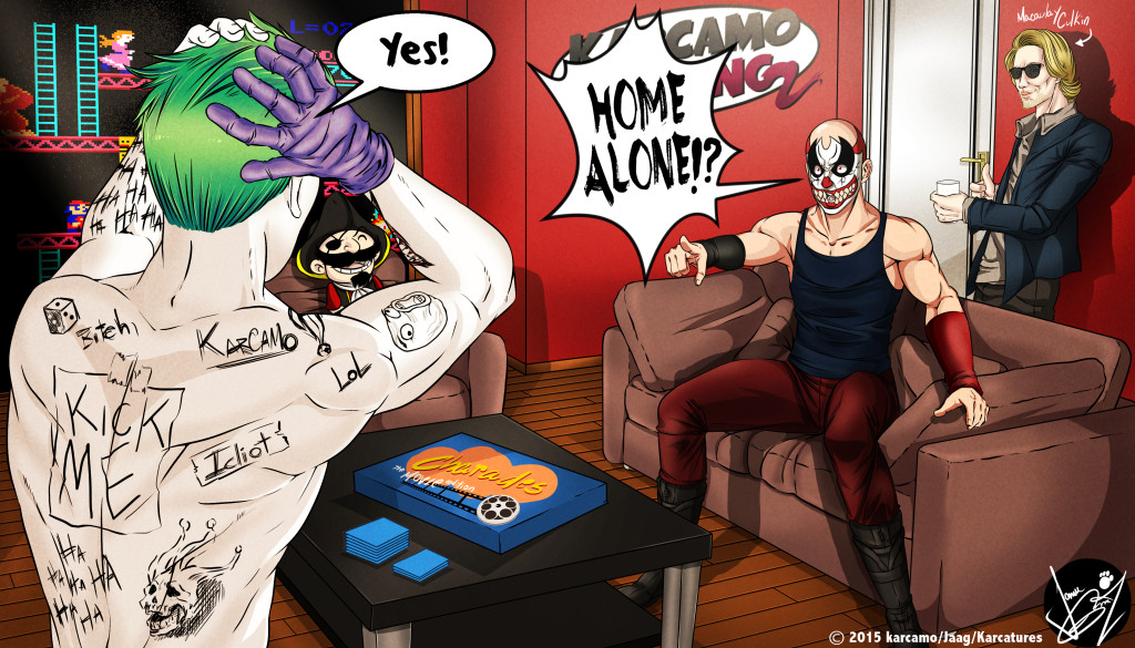 Karcamo, Joker and Macaulay in Charades